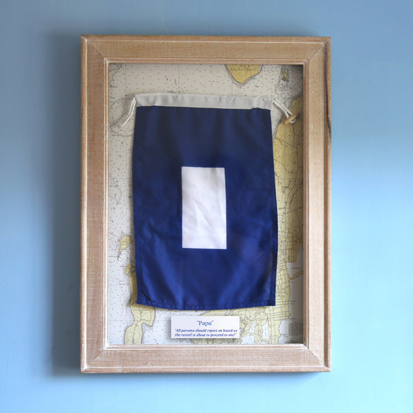 """P"" Framed Signal Flag"