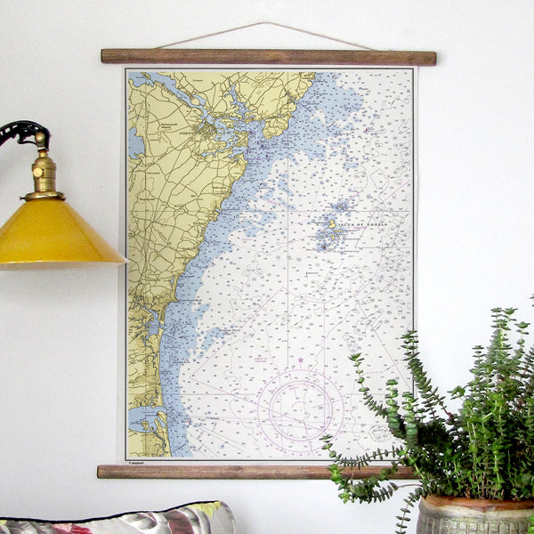 Portsmouth NH Map Scroll