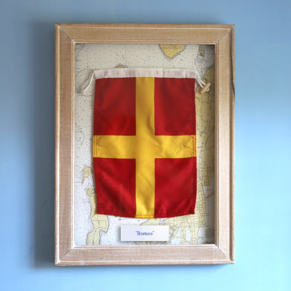"""R"" Framed Signal Flag"