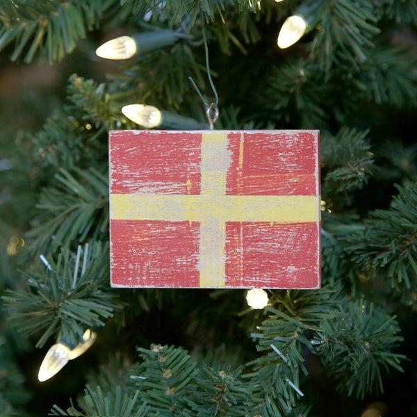 """R"" Flag Vintage Ornament"