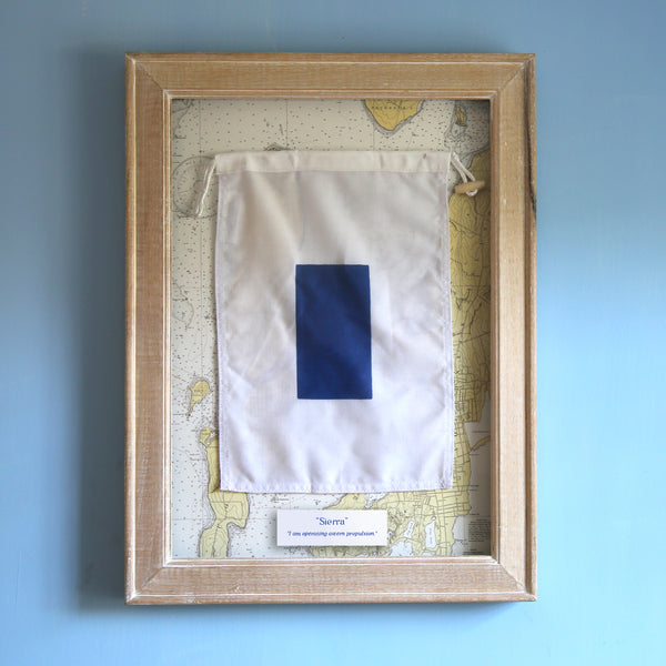 """S"" Framed Signal Flag"