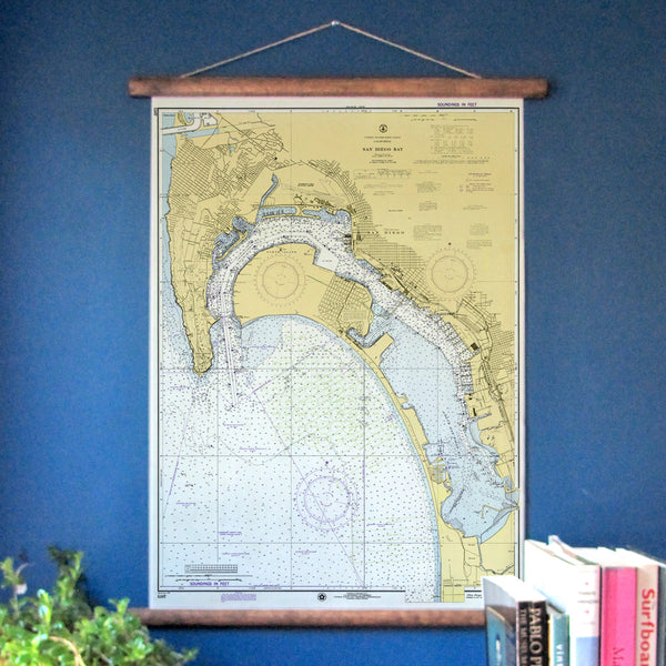 San Diego Vintage Nautical Chart