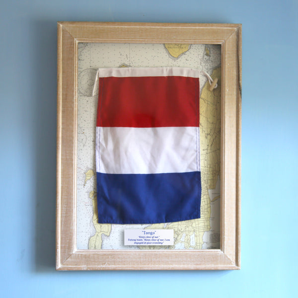 """T"" Framed Signal Flag"