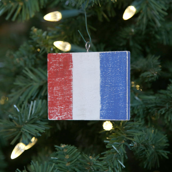 """T"" Flag Vintage Ornament"