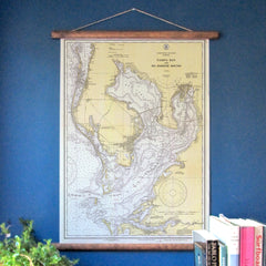 Tampa Bay / St. Pete Vintage Nautical Chart - mysignalflags