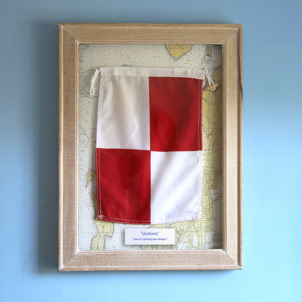 """U"" Framed Signal Flag"
