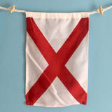 """V"" Nautical Signal Flag - mysignalflags"