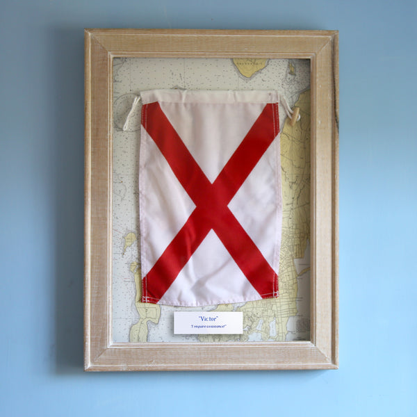"""V"" Framed Signal Flag"