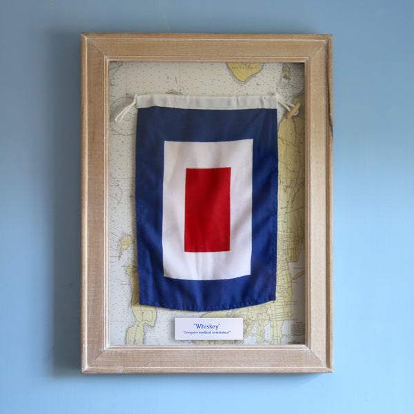 """W"" Framed Signal Flag"