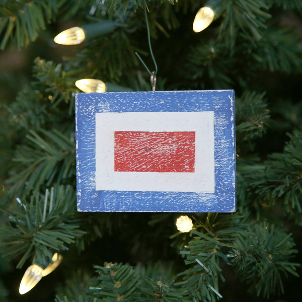 """W"" Flag Vintage Ornament"