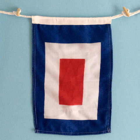 """W"" Nautical Signal Flag - mysignalflags"
