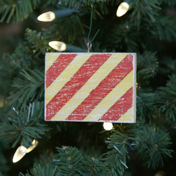 """Y"" Flag Vintage Ornament"