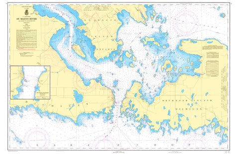 Drummond Island, MI Placemat - 4 pack - mysignalflags