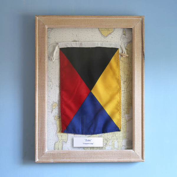 """Z"" Framed Signal Flag"