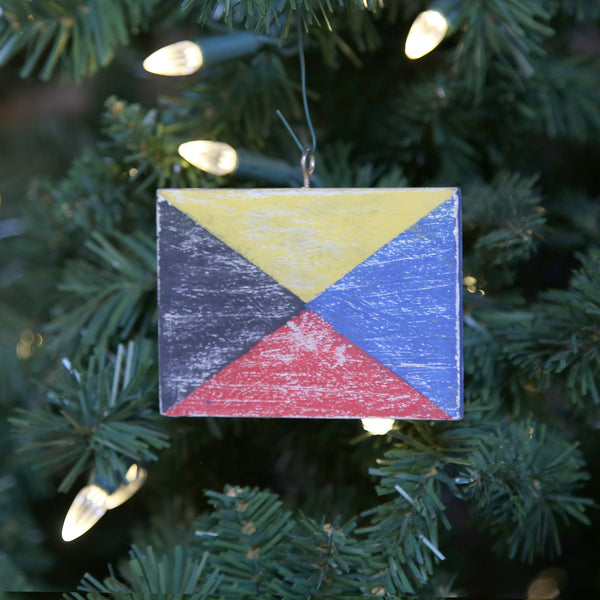 """Z"" Flag Vintage Ornament"