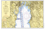 Mobile Bay, AL Chart Placemat - 4 pack - mysignalflags