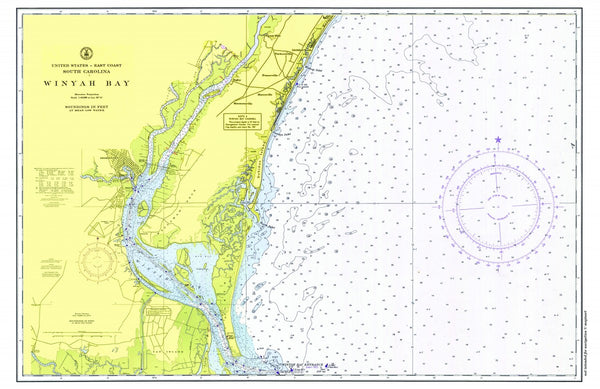 Winyah Bay to Myrtle Beach Chart Placemat