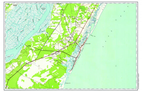 Block Island Nautical Chart Placemat - 4 pack - mysignalflags