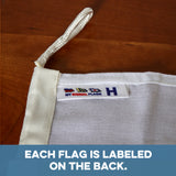 """H"" Nautical Signal Flag - mysignalflags"