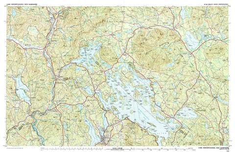 Lake Winnipesaukee Topo Map Placemat - 4 pack - mysignalflags