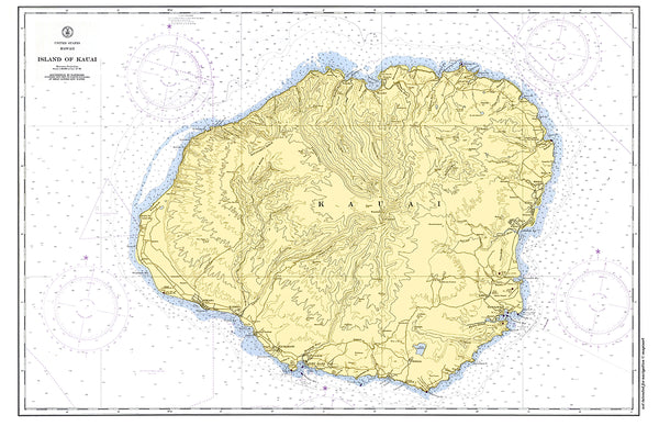 Kauai Island, Hawaii Placemat - 4 pack