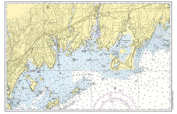 Greenwich CT Nautical Chart Placemat