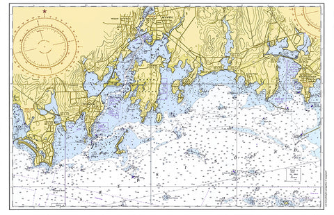 Groton Long Point to Stonington Chart placemat