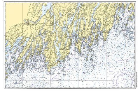Sebasco, ME Nautical Chart Placemat - 4 pack - mysignalflags