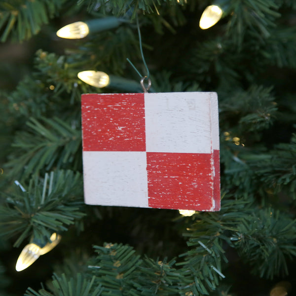 """U"" Flag Vintage Ornament"