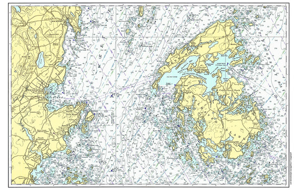 Penobscot Bay Nautical Chart Placemat - 4 pack