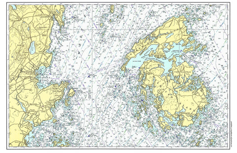 Penobscot Bay Nautical Chart Placemat - 4 pack - mysignalflags