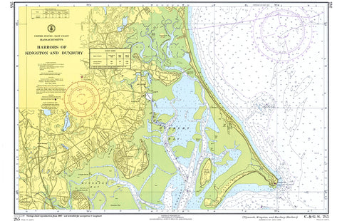 Duxbury MA Harbor MA Nautical Chart Placemat - 4 pack - mysignalflags