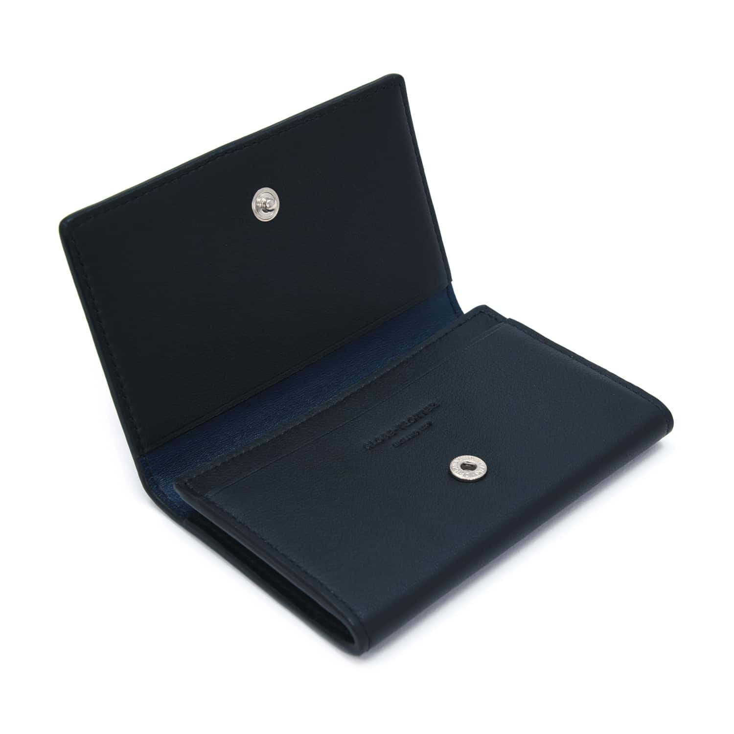 Centenary Leather · Business Card Holder - Navy