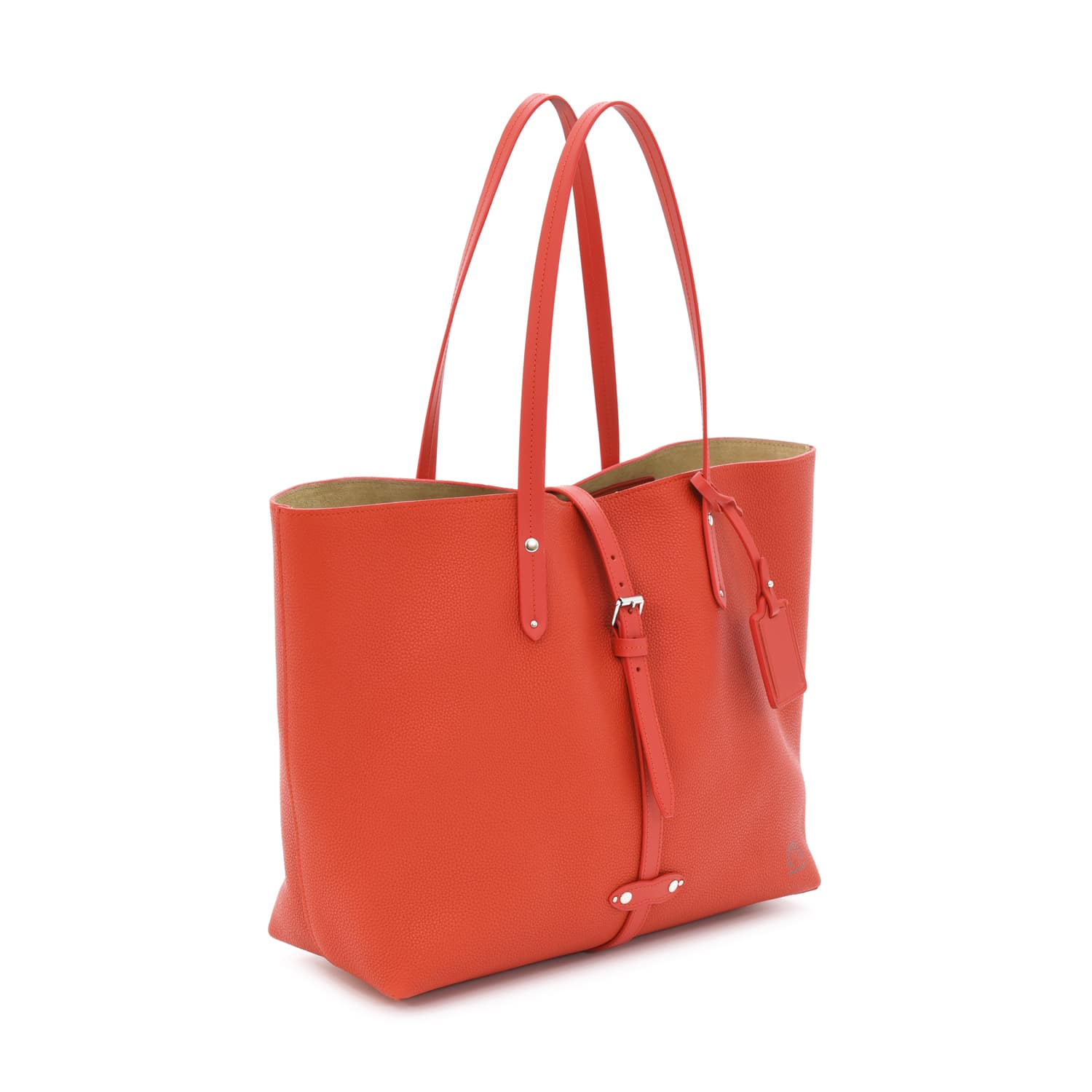 Centenary Leather · East/West Tote | Red/Red