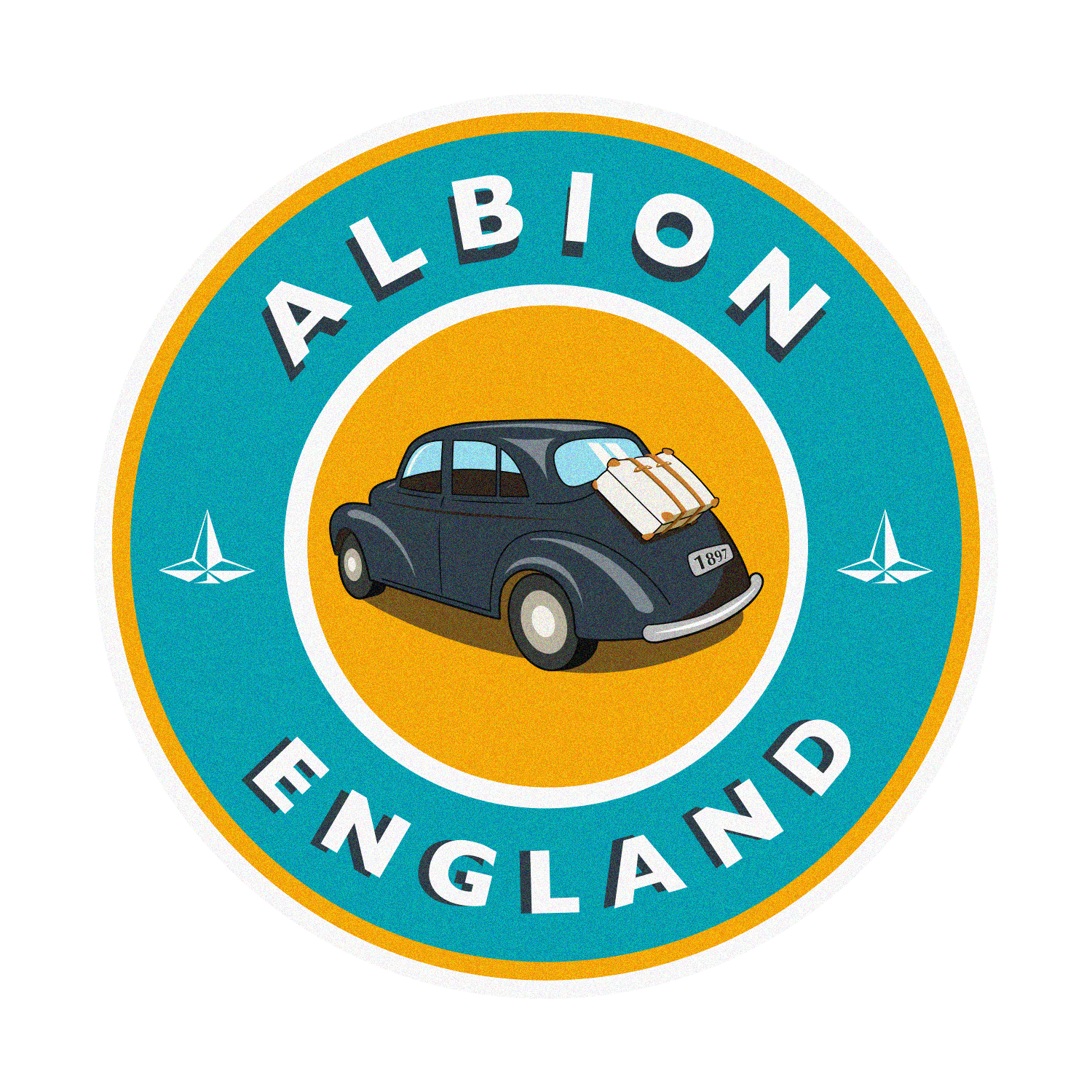 Leather Travel Stickers ·  Albion