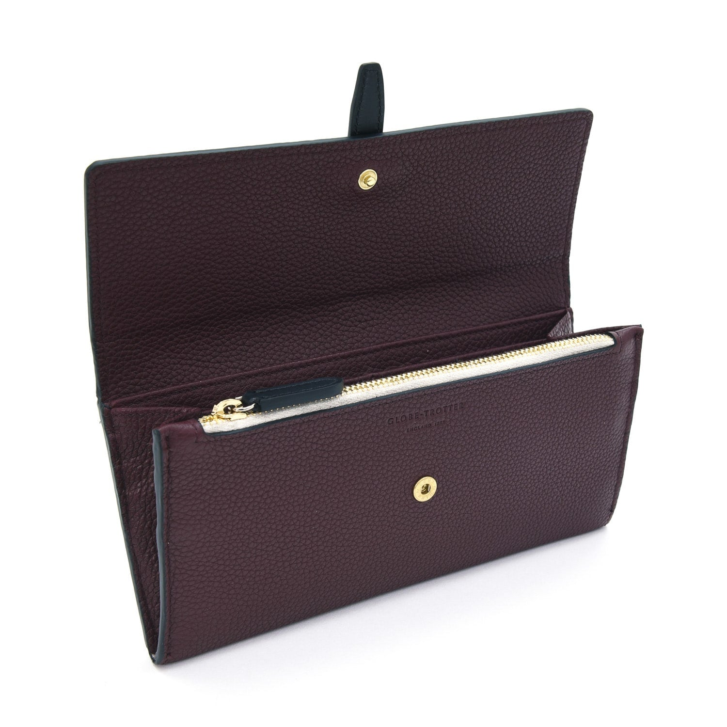 Centenary Leather · Flap Over Purse - Oxblood