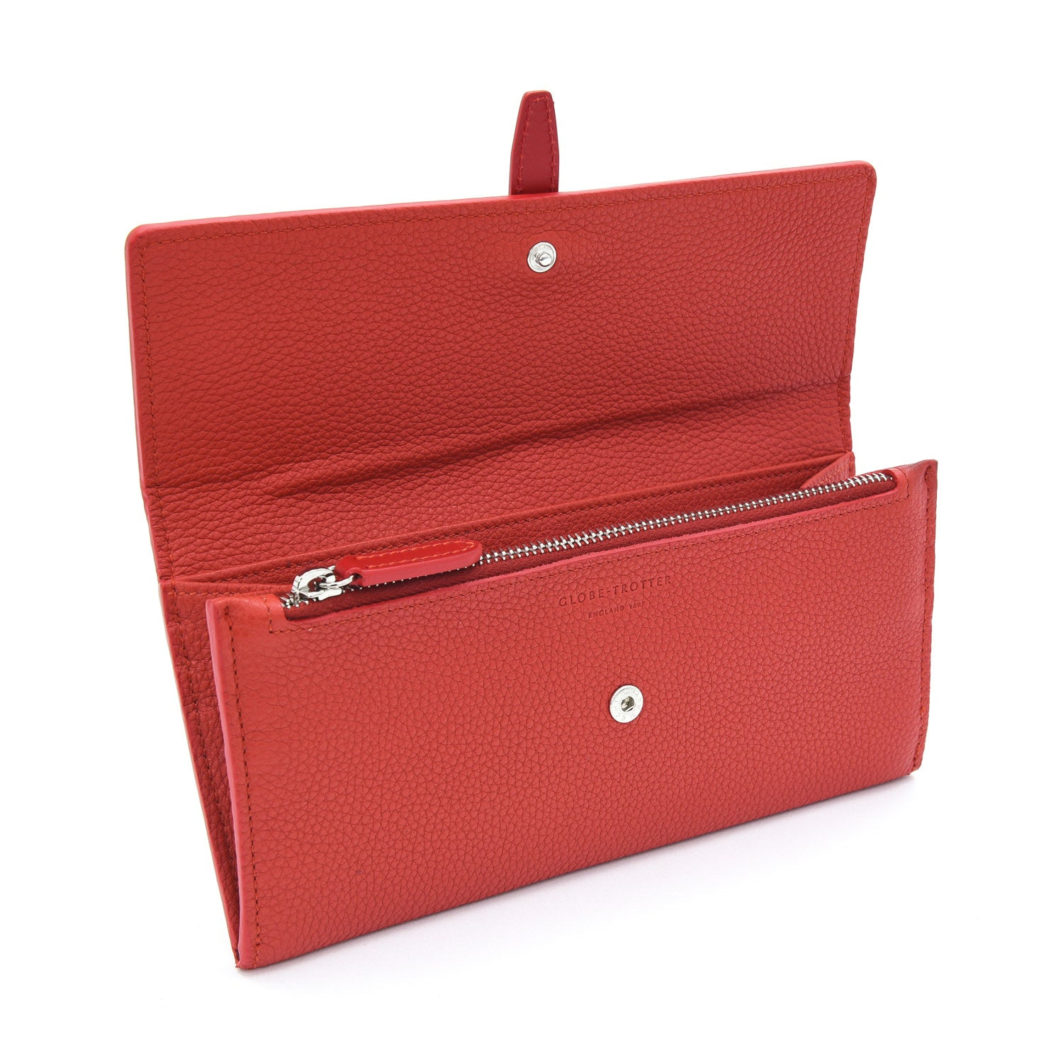 Centenary Leather · Flap Over Purse - Red