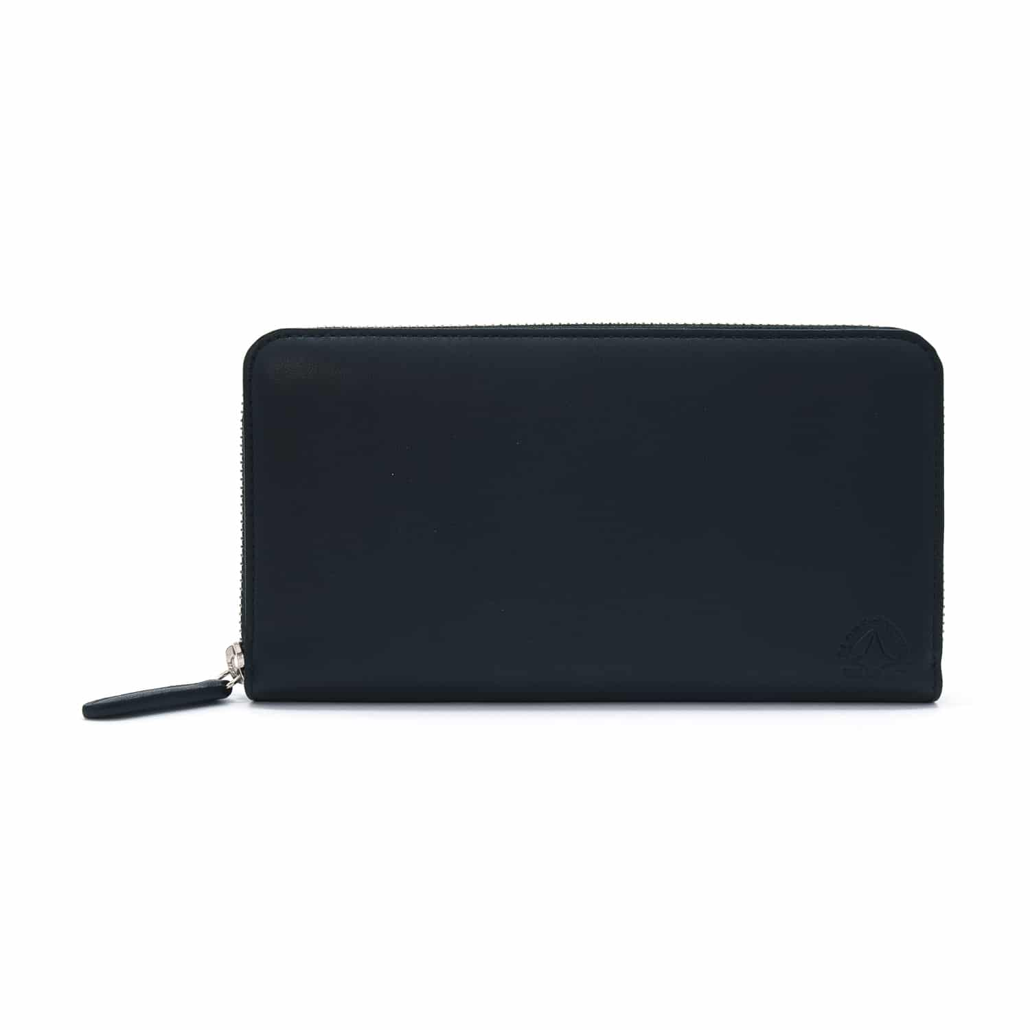 Centenary Leather · Large Zip Around Purse - Black
