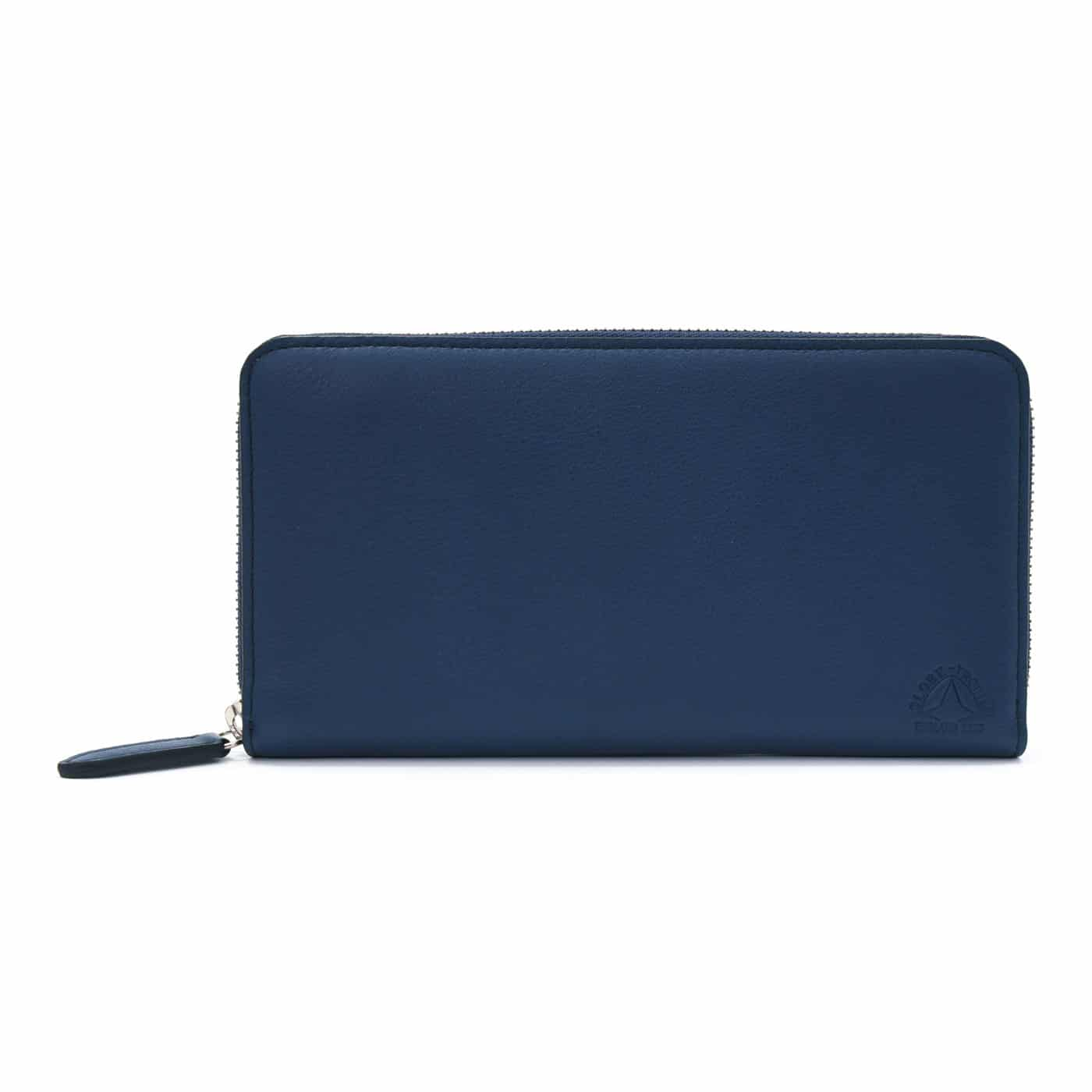 Centenary Leather · Large Zip Around Purse - Navy