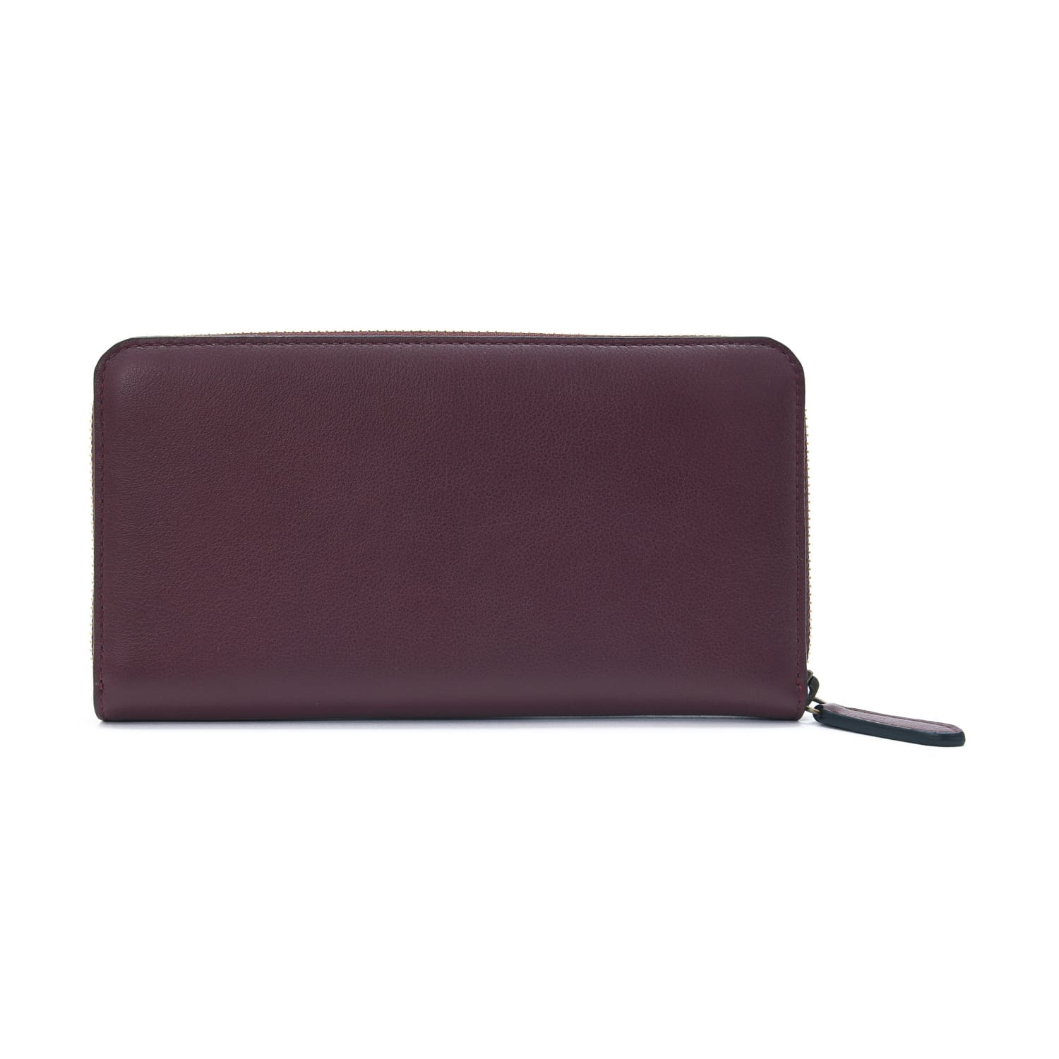 Centenary Leather · Large Zip Around Purse - Oxblood