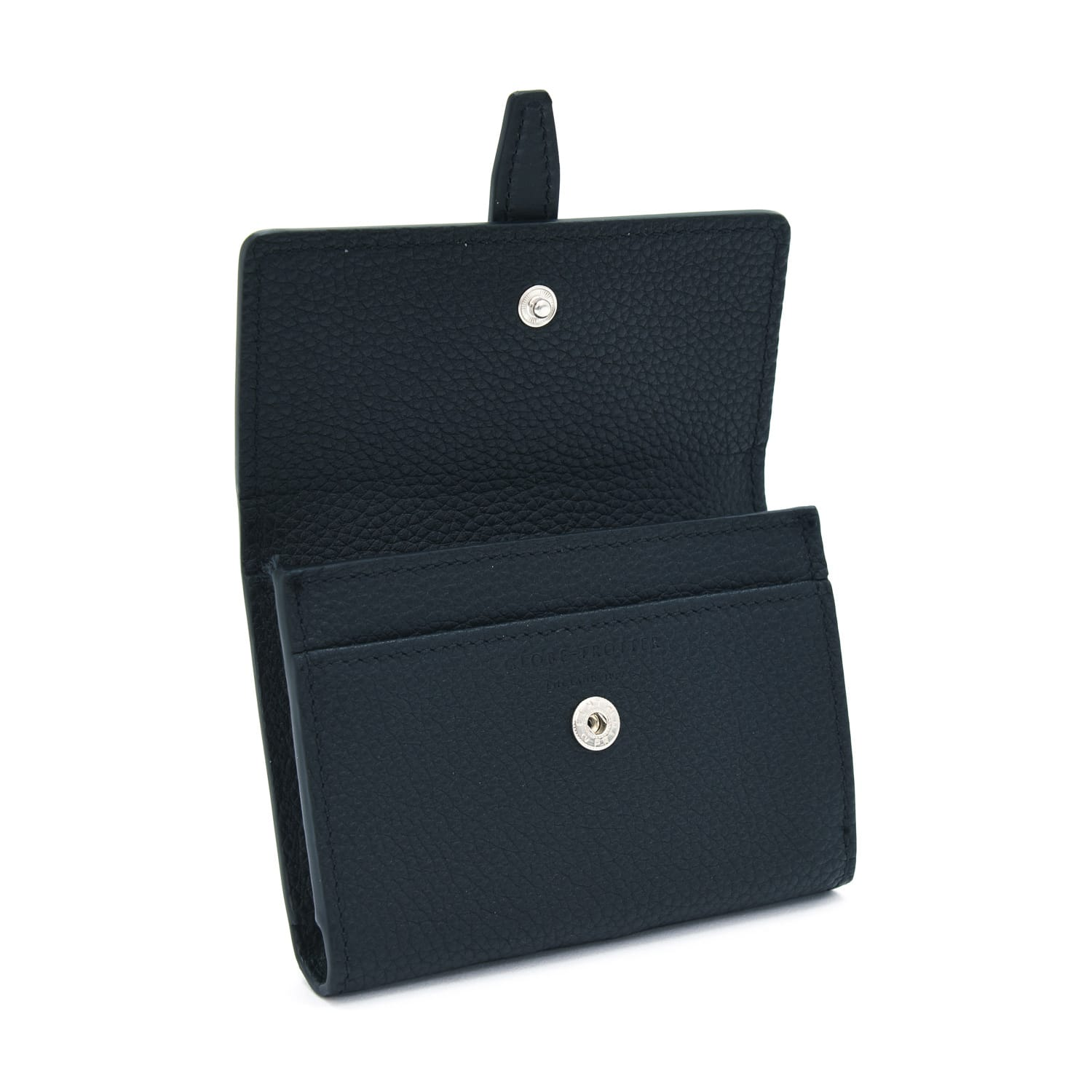 Centenary Leather · Ladies Name Card Holder - Black