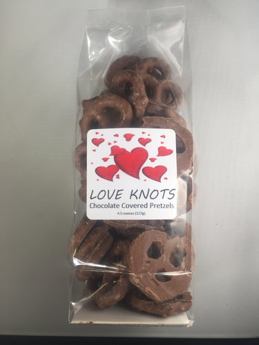 Love Knots Chocolate Pretzels - Taste Of The Rockies