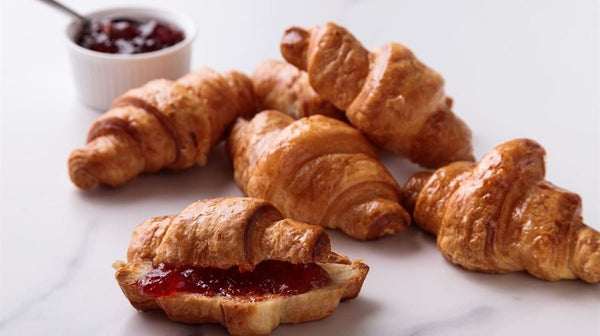 Butter Croissants with Jam