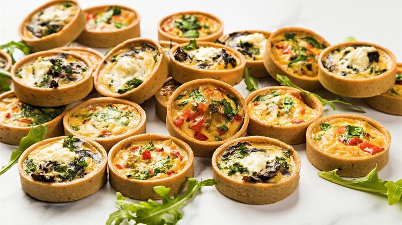Freshly Baked Vegetarian Mini Quiche