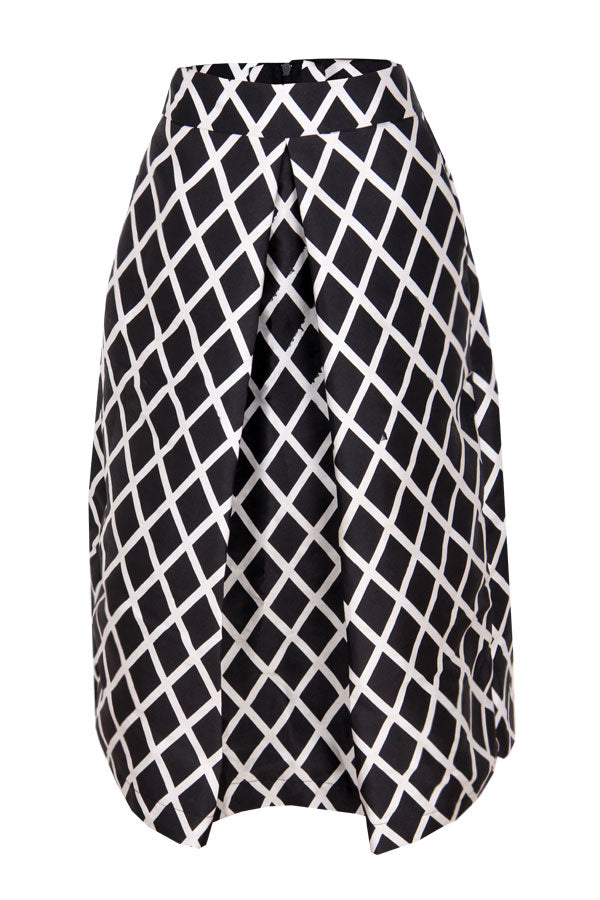 SPENCER GRID A-LINE SKIRT