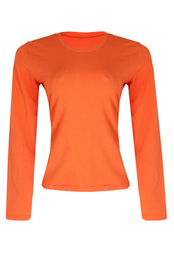NEON ORANGE LONG SLEEVE TOP