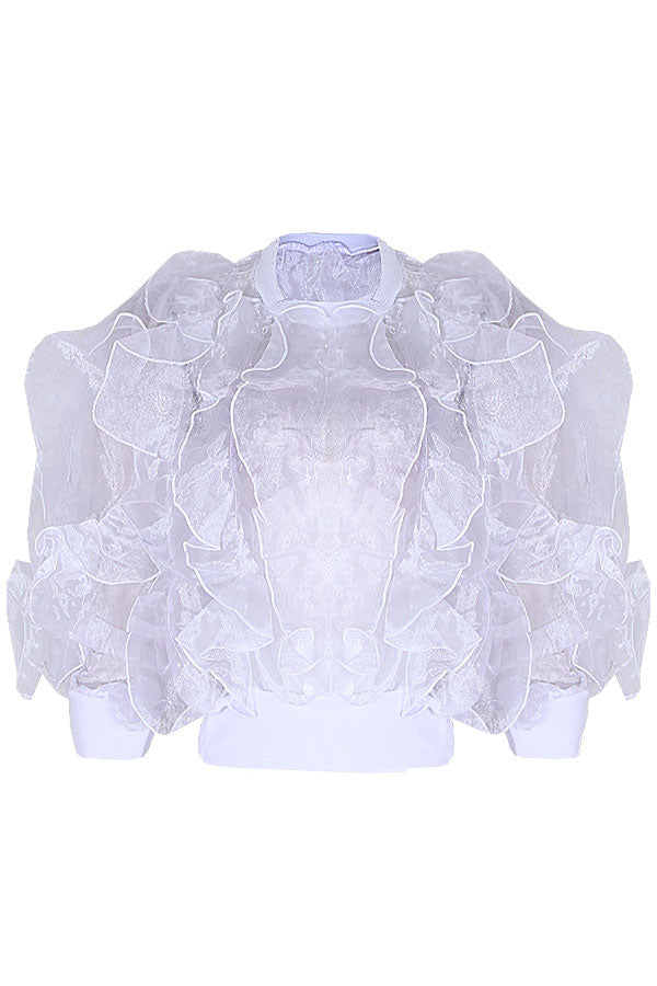 CATALINA BOMBER ORGANZA TOP