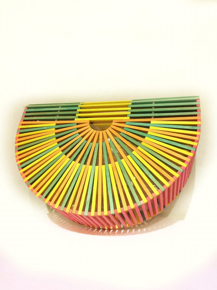 MULTICOLOR BAMBU CLUTCH BAG