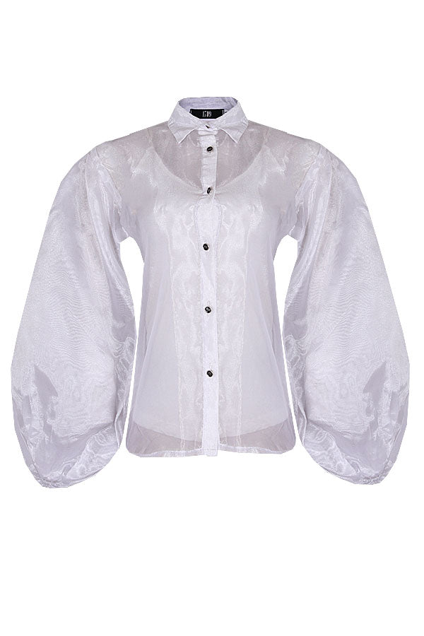 THE CTELLA WHITE ORGANZA TOP