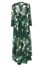 ANDRIAS FOREST FLORAL MAXI DRESS